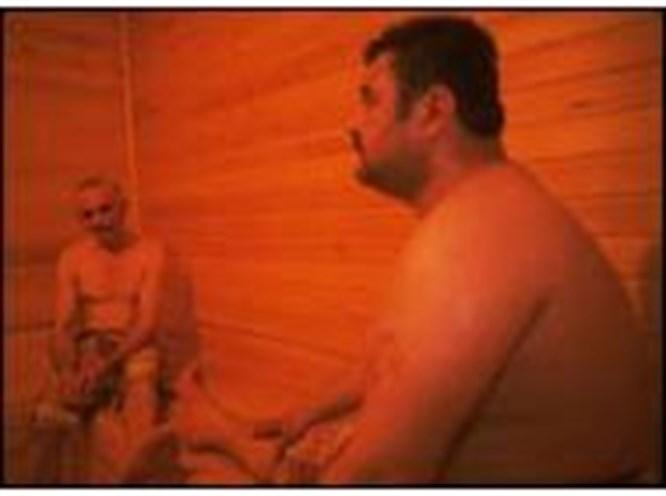 110 derecelik saunada 5 dakika kaldı